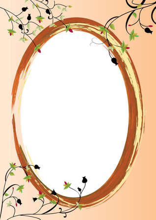 oval shape: orange background  with white oval center