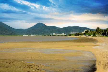 view of Cairns tropical north Queensland the esplanade photo