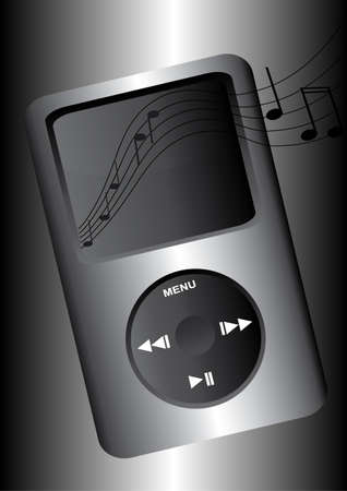 minim: one mp3 with music flowing from it