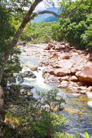 daintree: Boulders at Mossman George Queensland Australia Stock Photo