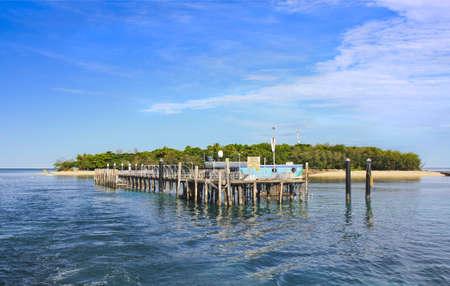 barrier island: tropical Green Island ,Cairns Queensland Australia Stock Photo