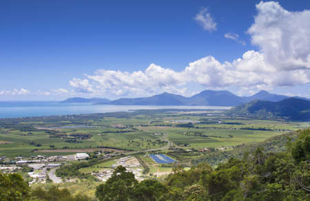 view of the city of Cairns from Kuranda range photo