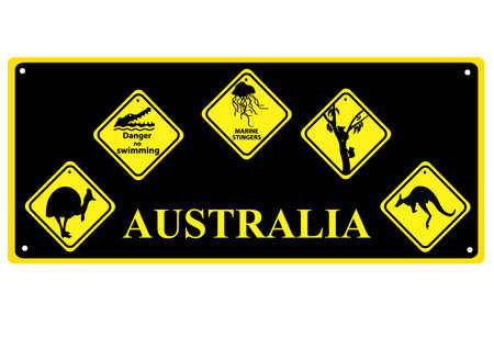 Number plate with Australian signs of wildlife Stock Vector - 19843262
