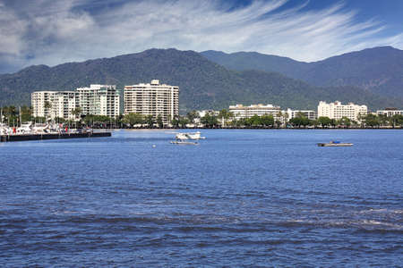 esplanade: The beautiful tourist  city of Cairns in Queensland Australia