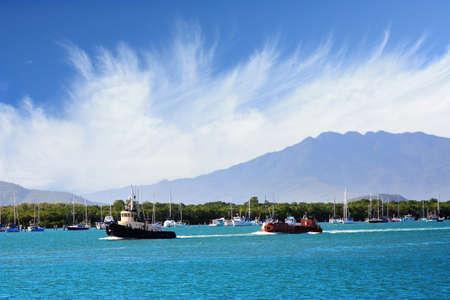 tug boat: beautiful port of Cairns,North Queensland Australia