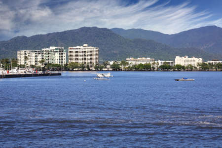 habour: The beautiful tourist  city of Cairns in Queensland Australia