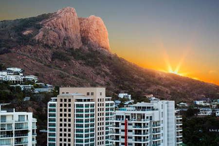 sunset looking towards Castle Hill Townsville Australia