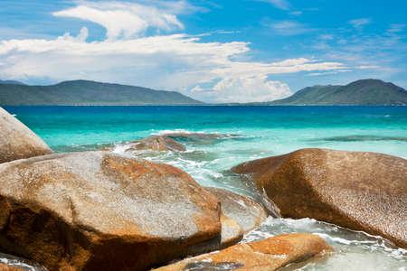 barrier island: beautiful Fitzory Island near Cairns North Queensland Australia Stock Photo