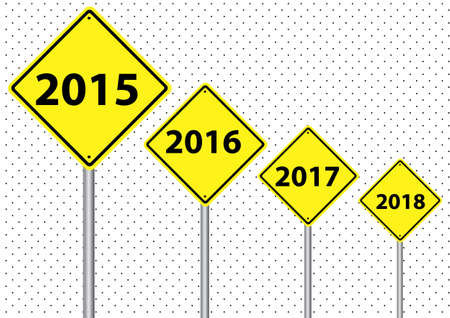 year increase: a set of signs from 2015 to 2018