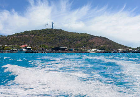 turbin: view from the boat on leaving Thursday Island going to Horne Island Stock Photo