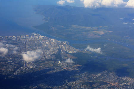 cairns: a aerial view of Cairns Queensland Australia