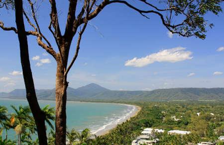 port douglas: view of Port Douglas beach Australia on a sunny day Stock Photo