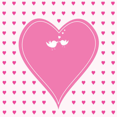heart white: pink hearts with one large heart  in the middle