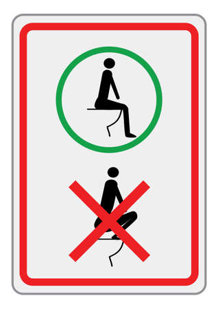 urinate: a sign for the toilet for foreign travelers Stock Photo