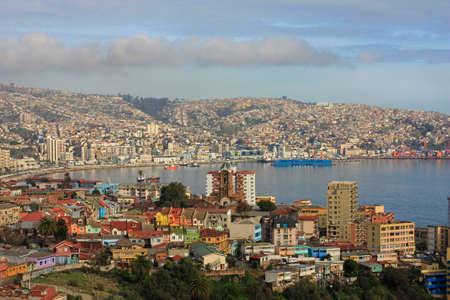 america del sur: Valparaíso un puerto de envío en América del Sur