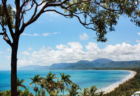 view of Port Douglas from lookout Stock Photo