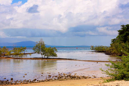 going out: Port Douglas waterfront as the tide is going out Stock Photo