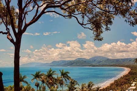 sunset of Port Douglas from lookout