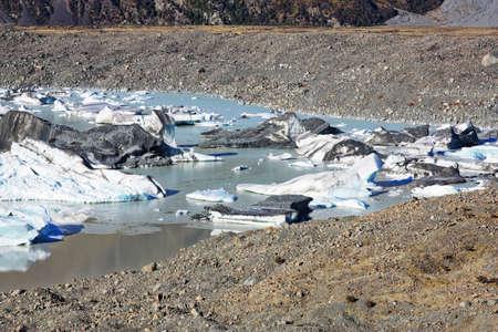 tasman: Tasman Glacier near My Cook NZ Stock Photo