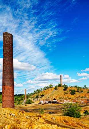 powerhouse: Chillago smelter was used for copper, silver, lead and gold Stock Photo