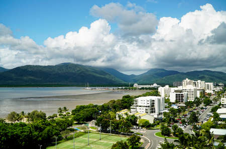 cairns: Cairns Australia on a humid and cloudy day Stock Photo