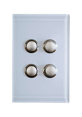 light switch: four buttons  on a modern light switch