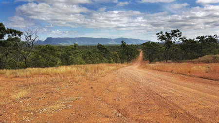 road to  Mount Mulligan near Cairns Australia Stock Photo