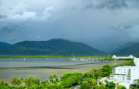 cairns: Cairns habour on a hot rainy day Stock Photo