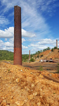 powerhouse: remains of the old Chillago smelter at Chillago