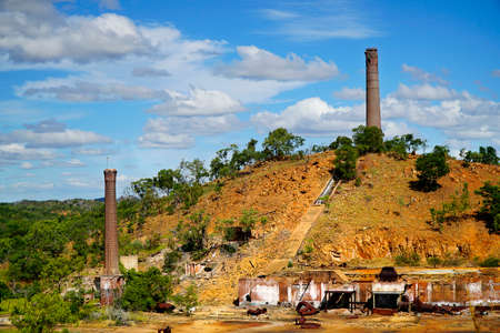 disused: the old remains of the chiliagoe smelter Stock Photo