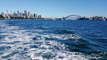 habour: view of Sydney Habour from the sea Stock Photo