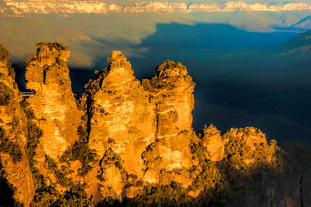 three sisters: The Three Sisters Blue Mountains Australia taken at sunset