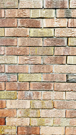 concrete structure: an old brick wall with lots of texture Stock Photo