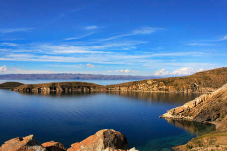 bolivian: Isla de Sol Bolivia on Lake Titicaca the largest high altitude lake in the world