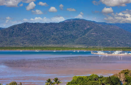 habour: view of beautiful tropical Cairns habour in Australia