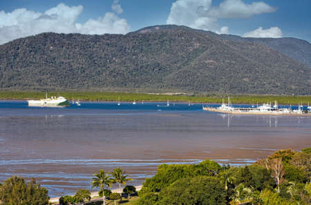 habour: view of Cairns habour in Queensland Australia Stock Photo