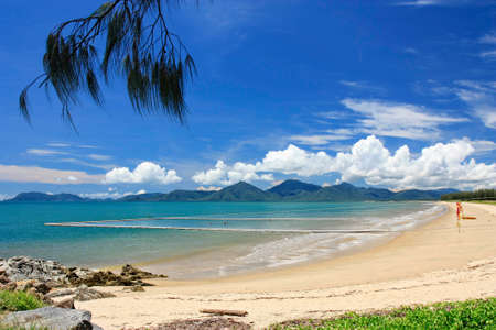 stingers: Yorkeys Knob Cairns beach with stinger net protection from stingers