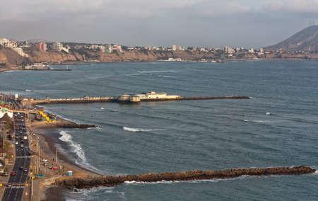 Lima Peru South America coastal view towards Miraflores district Stock Photo