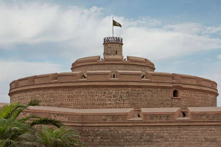 habour: The fortress Real Felipe was built over 250 years ago built to defend the Peruvian coast Stock Photo