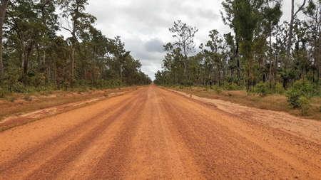 Cape York Australia, orange dirty and dusty road