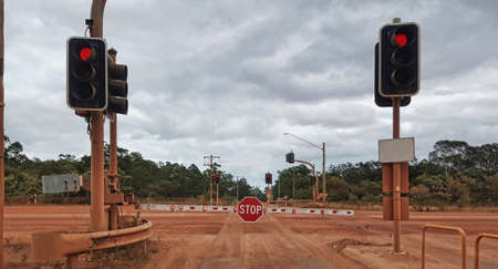 entrance into Weipa  which is largest town in central Cape York.it is a mining town