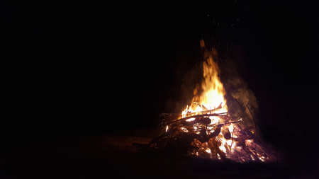 A large Bon fire in the evening Banque d'images