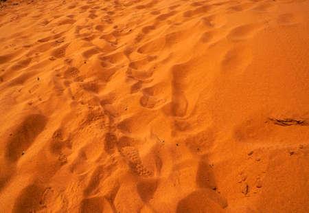 outback Australia bright orange sand dunes at Cape Peron