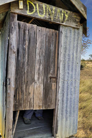 Old dunny, photo of an old outback toilet in Australia