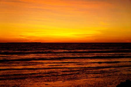 sunset at Cape Keraudren Western Australia Stock Photo