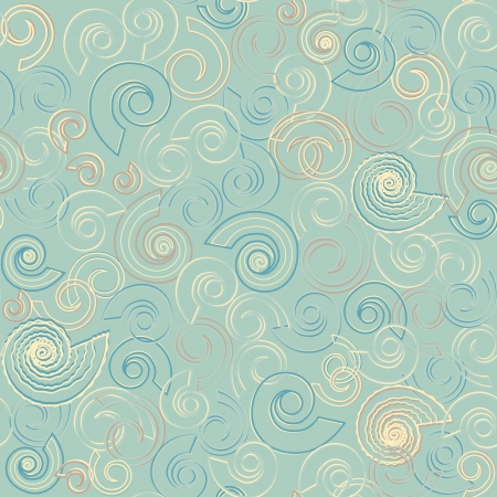 Seamless pattern made of shells and spirals Stock Vector - 13917196