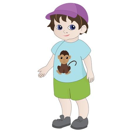 lively: Illustration of cartoon boy
