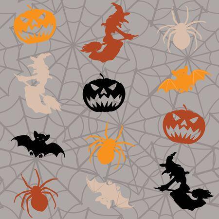 Cartoon Halloween seamless background Stock Vector - 15534684