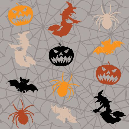 Cartoon Halloween seamless background Stock Vector - 15534684