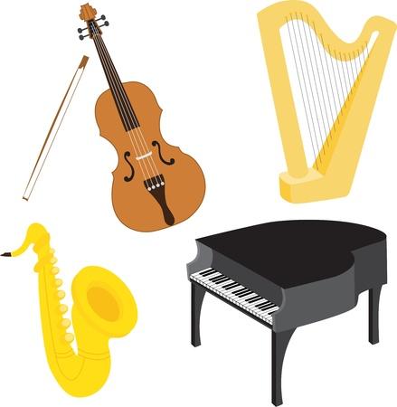Cartoon music instruments Stock Vector - 17717340